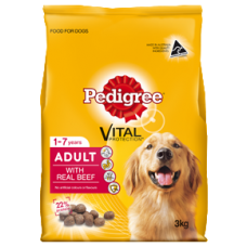 PEDIGREE ADULT DRY DOG FOOD WITH REAL BEEF
