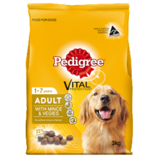 PEDIGREE ADULT DRY DOG FOOD WITH MINCE & VEGIES
