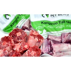 SOUTHERN RAW PET MEATS KANGAROO TAIL PORTIONS 1KG