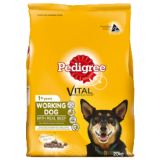 PEDIGREE WORKING DRY DOG FOOD WITH REAL BEEF